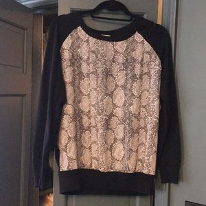 Join Animal Print Sweater. Size Medium.